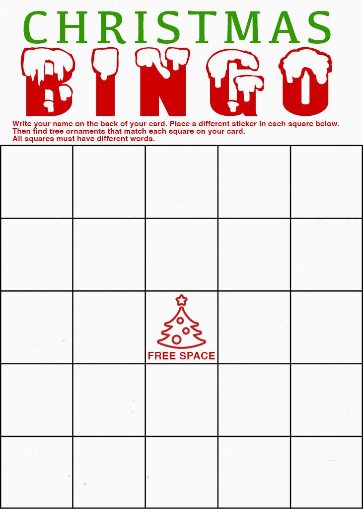 Holiday light bingo